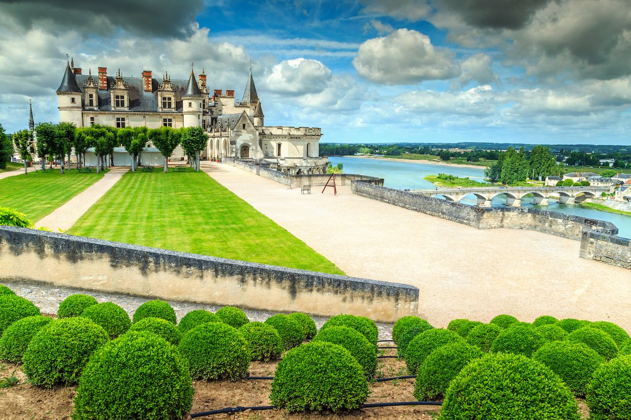 Loire Valley Amboise castle and garden