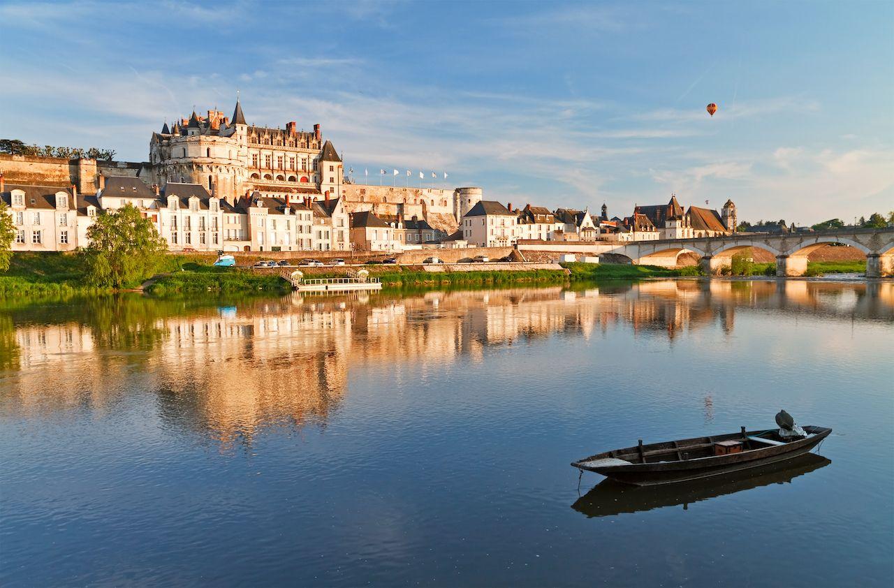 Loire Valley castle and Loire River