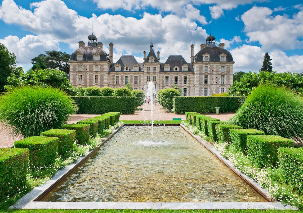 Loire Valley chateau castle and garden