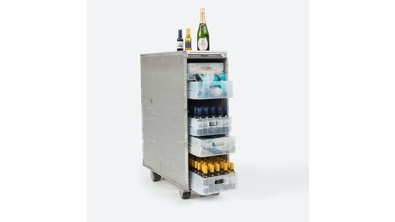 Qantas Airways fully stocked bar cart for sale.jpg