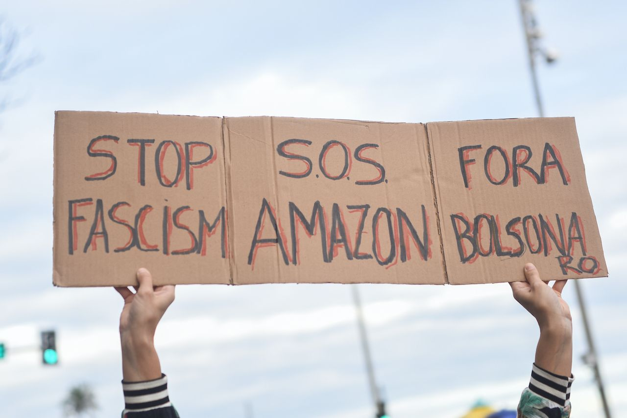 Rally in favor of the Amazon in Brazil