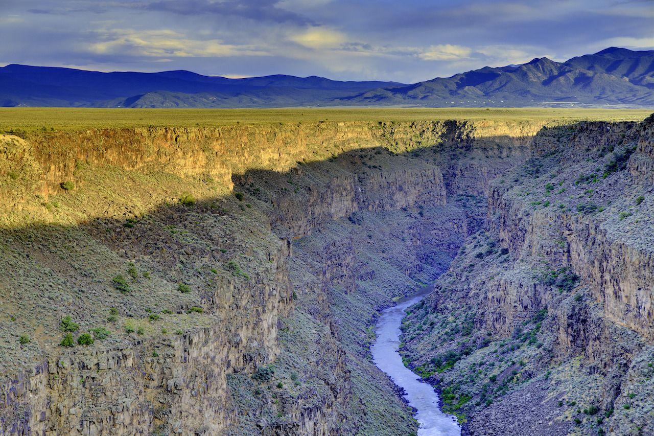 Rio Grande gorge near Taos New Mexico
