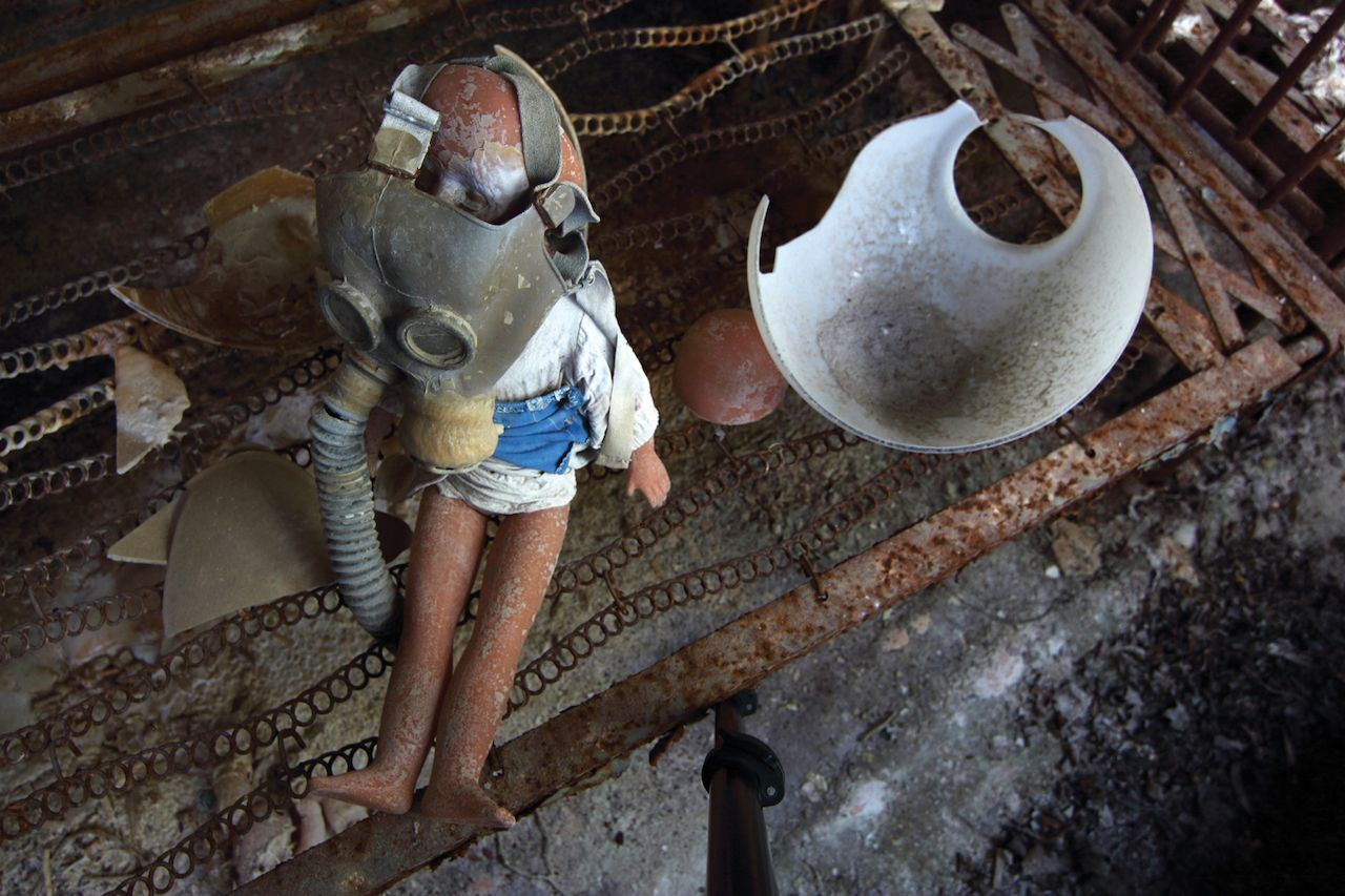 Sensational props seen in official tours of Chernobyl