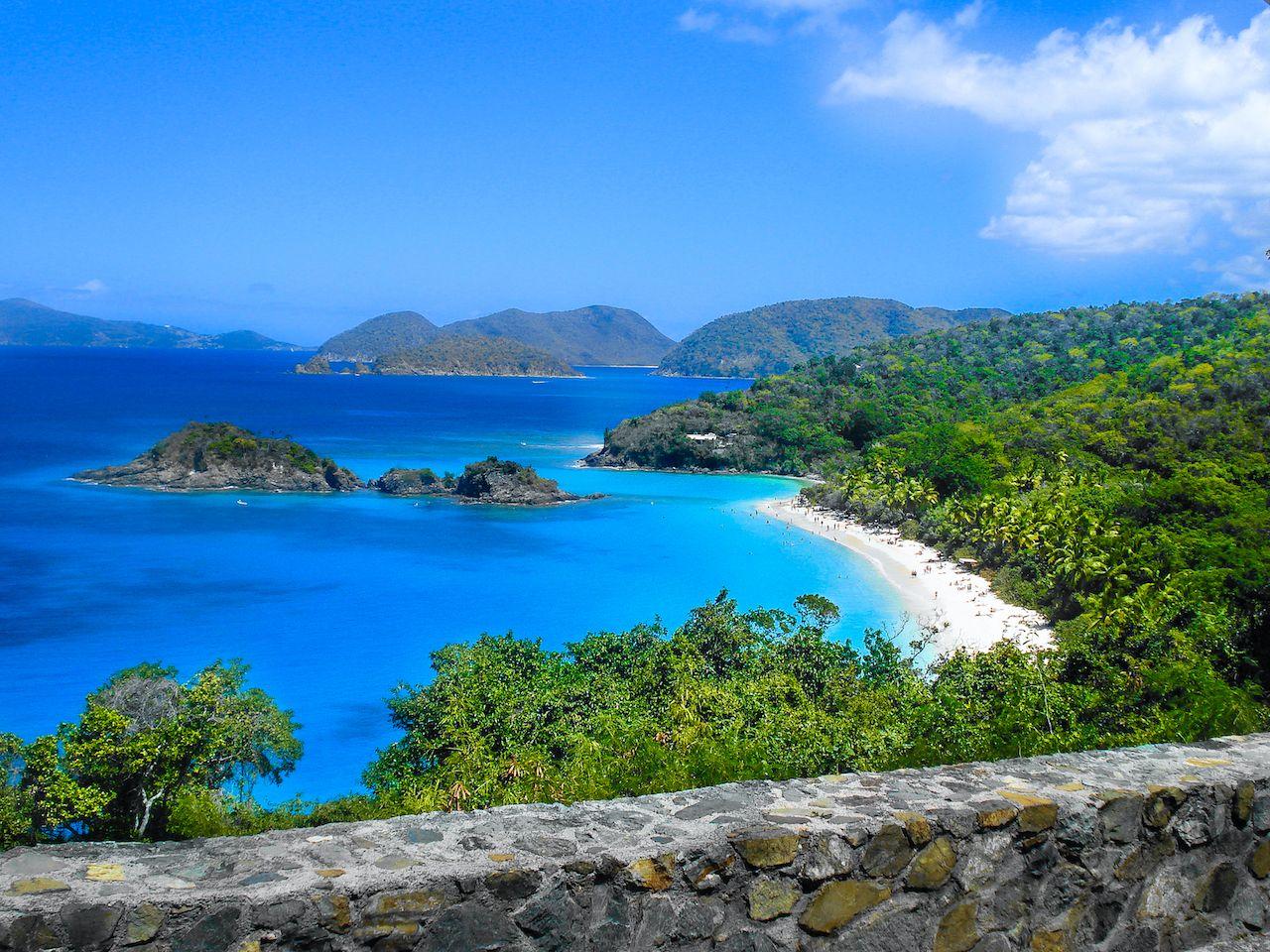 St. Maarten beach landscape