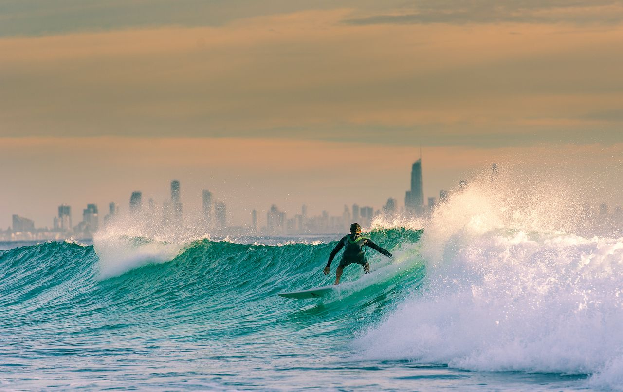 Surfer on the Gold Coast, Australia