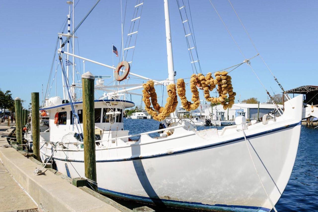 greek boat in tarpon springs, florida