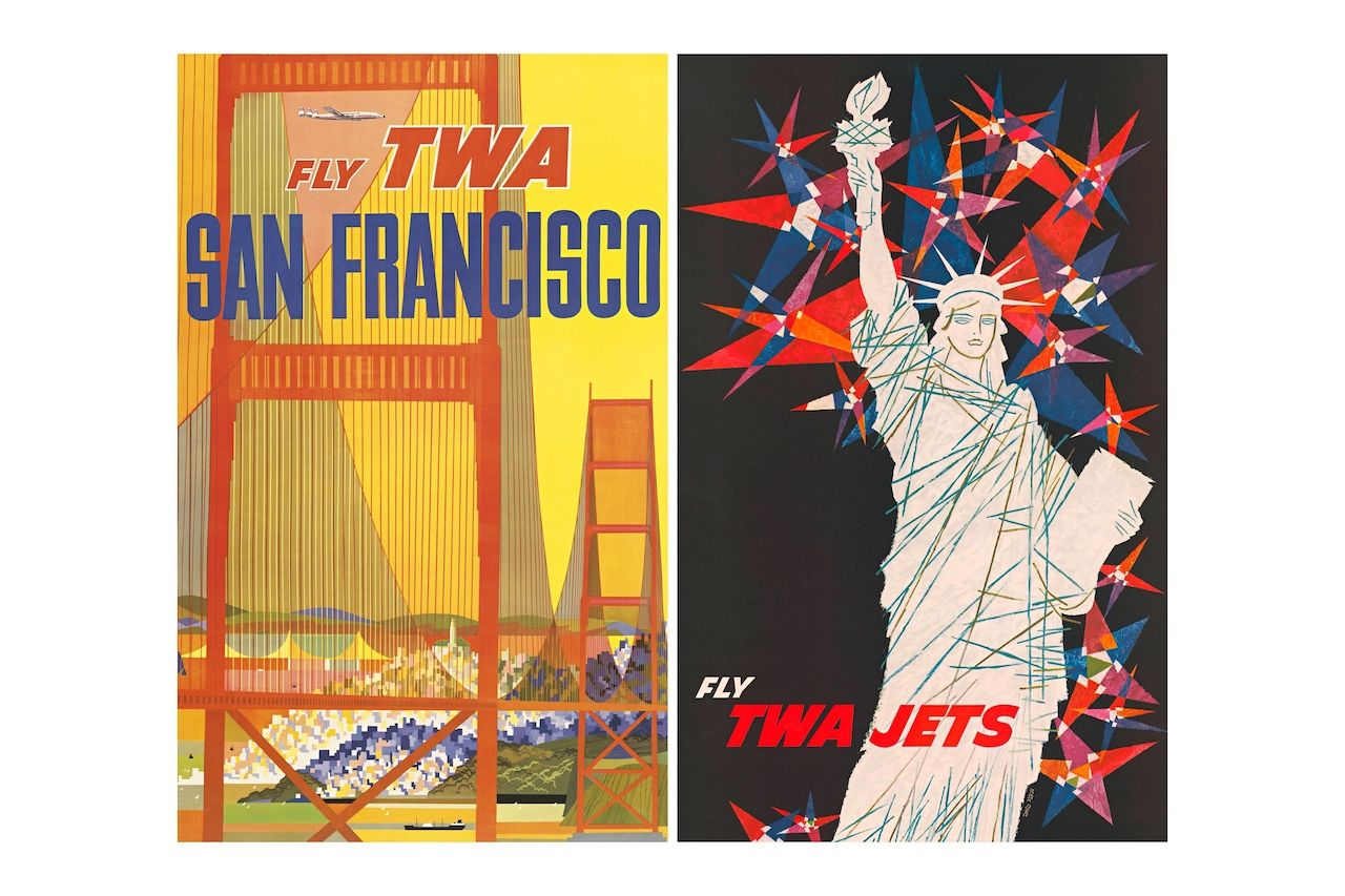 san-francisco-new-york-airline-posters
