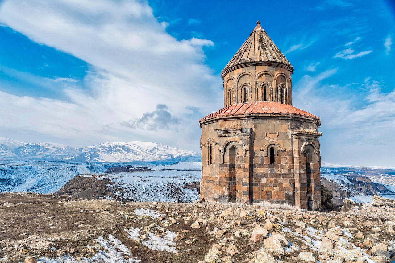 Ani ruins in winter