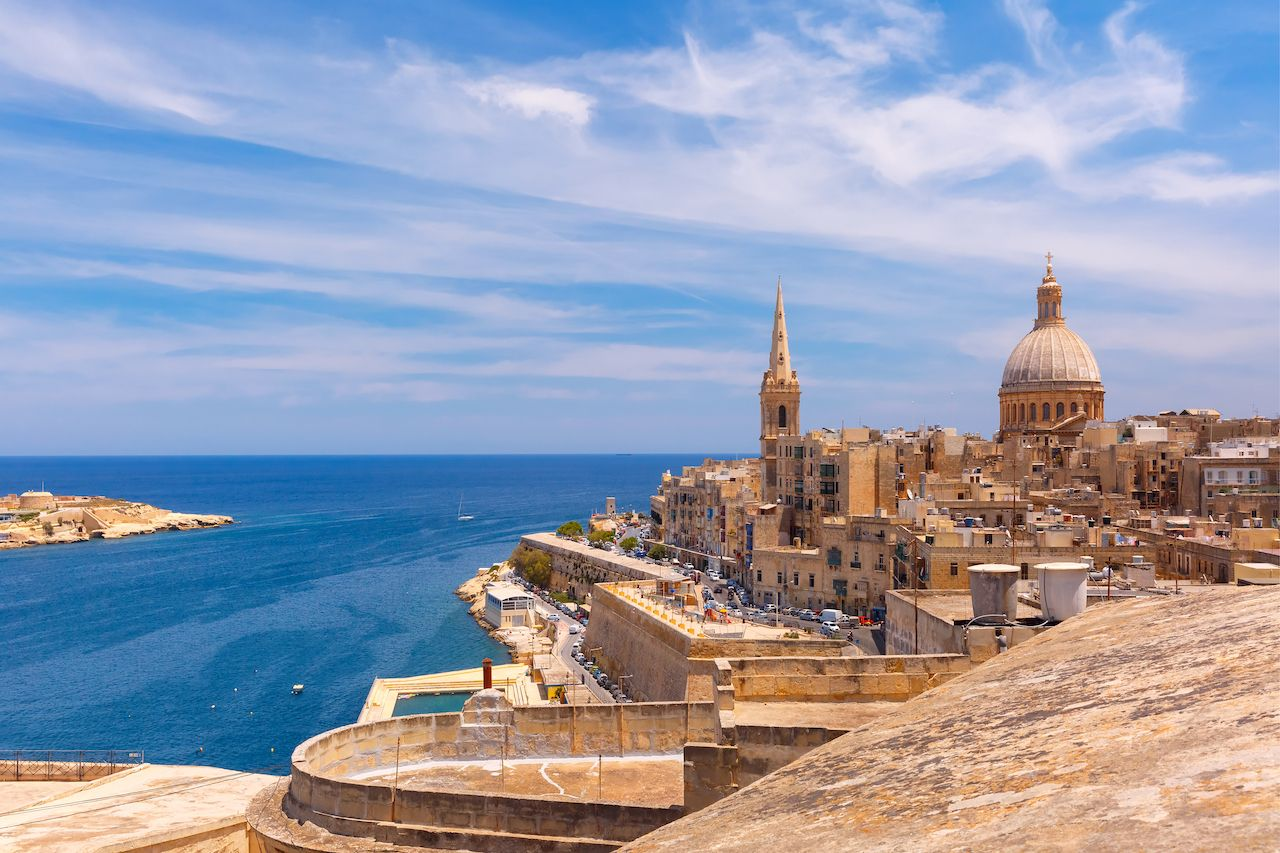 Architecture on Malta coast