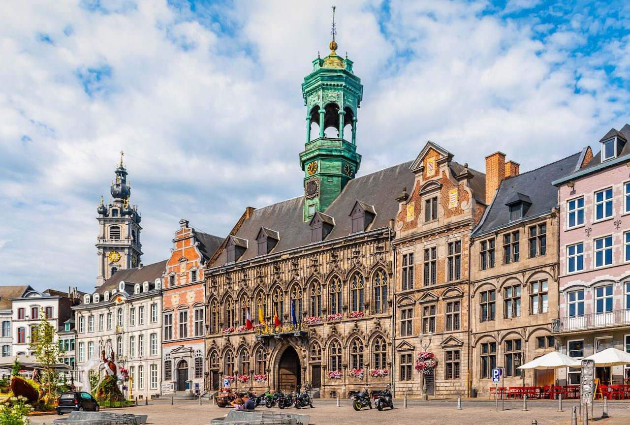 City Hall in Mons, Belgium