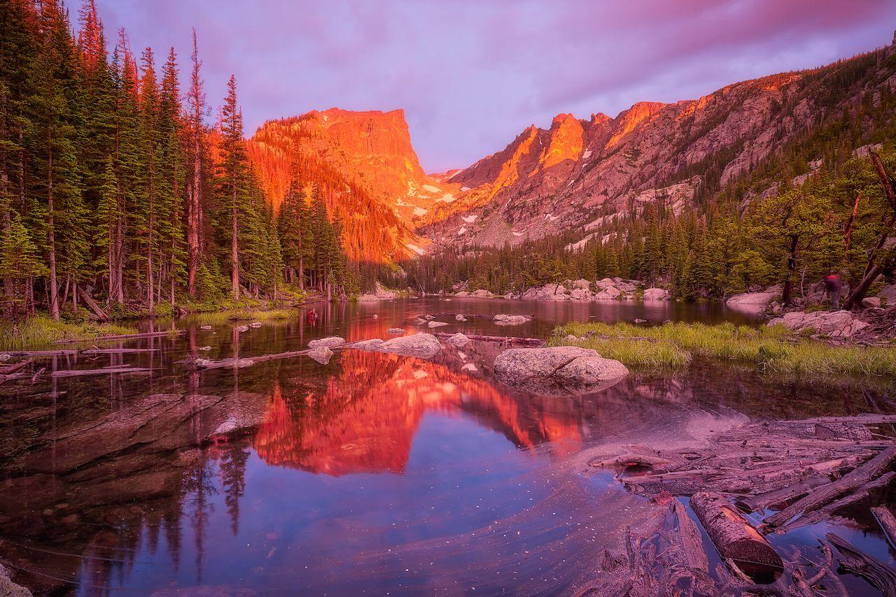 Dream Lake in Colorado's Rocky Mountain National Park