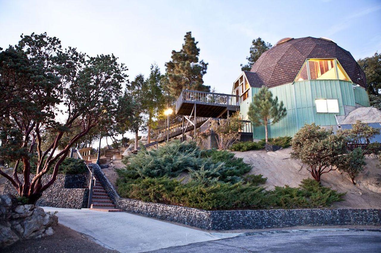 Geodesic dome in Idyllwild, CA