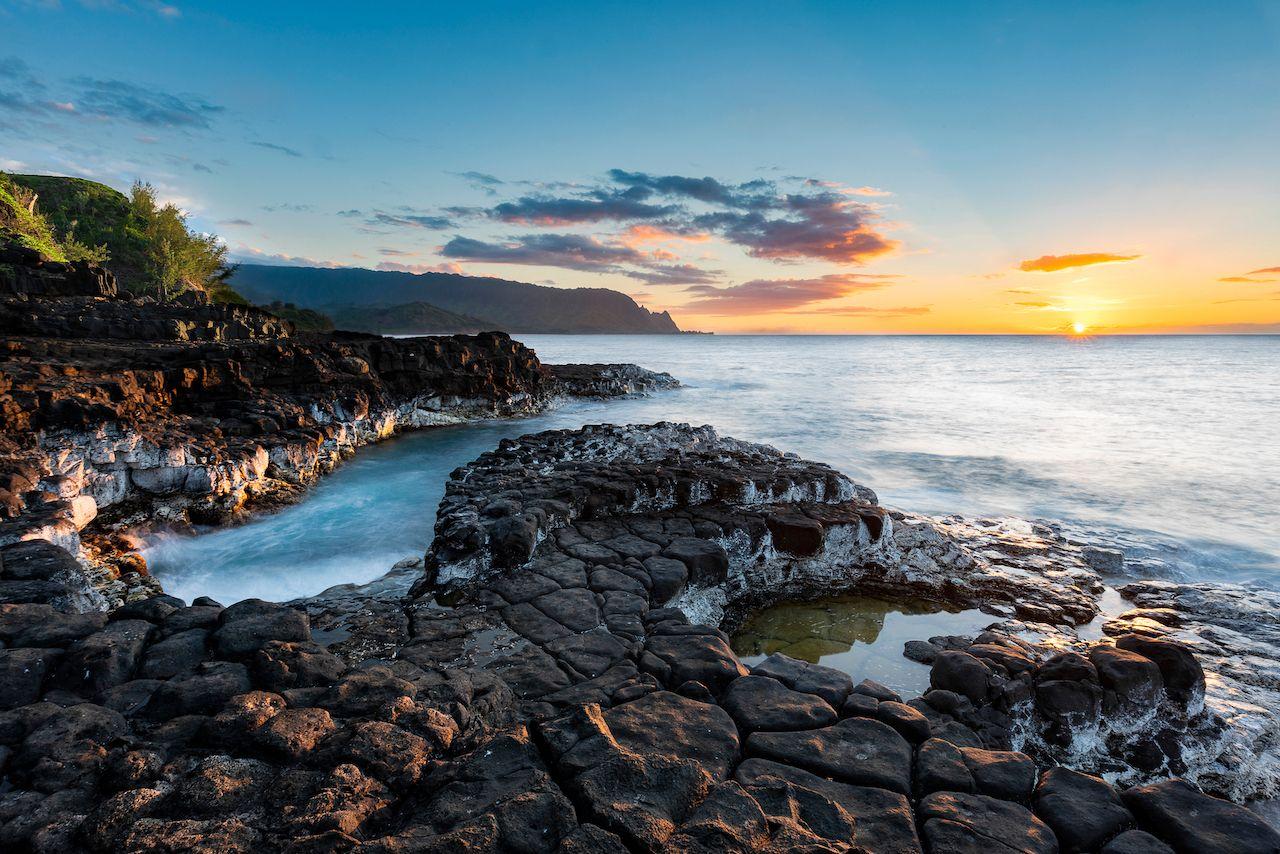 Kauai rocky beachscape