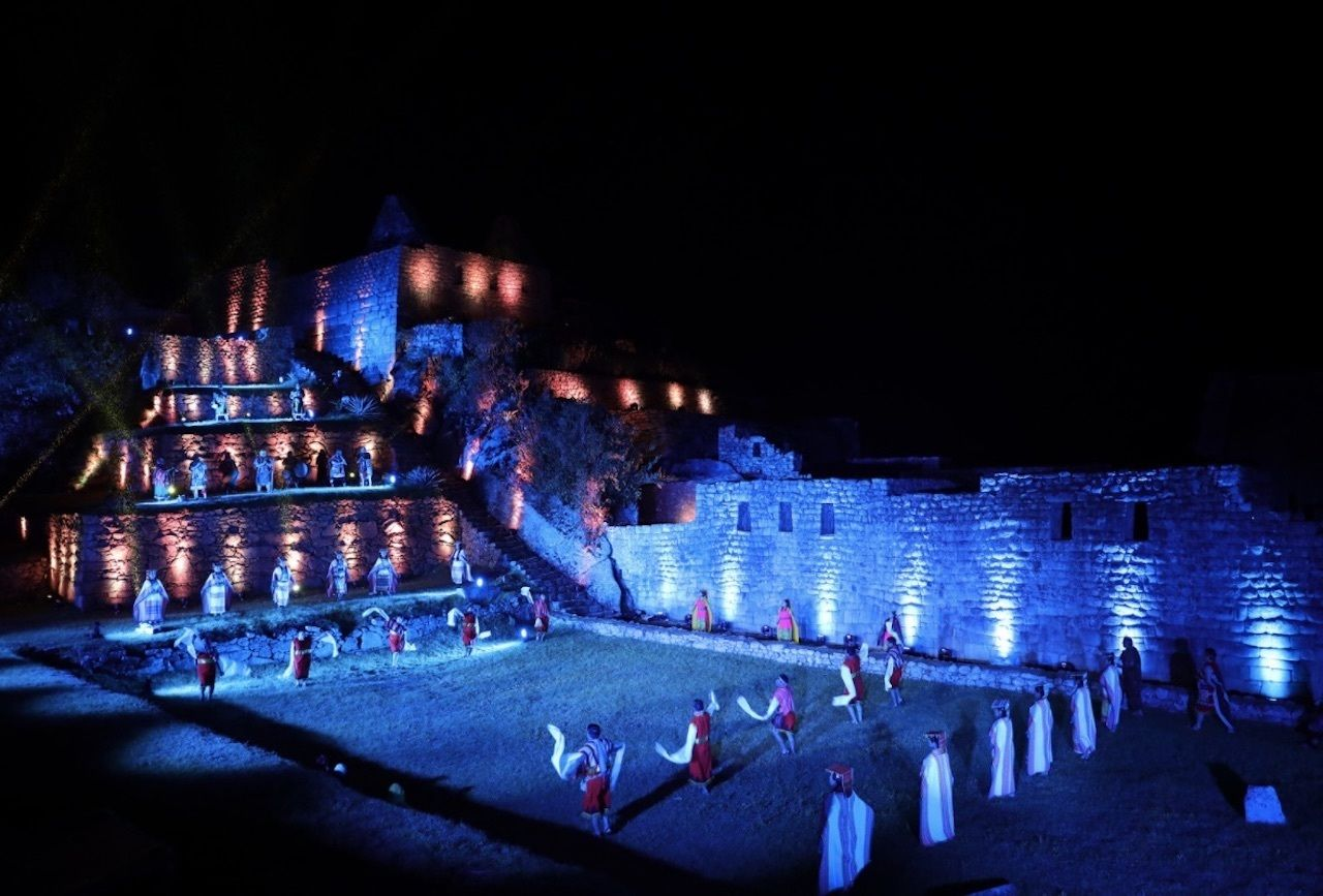 Machu picchu light show