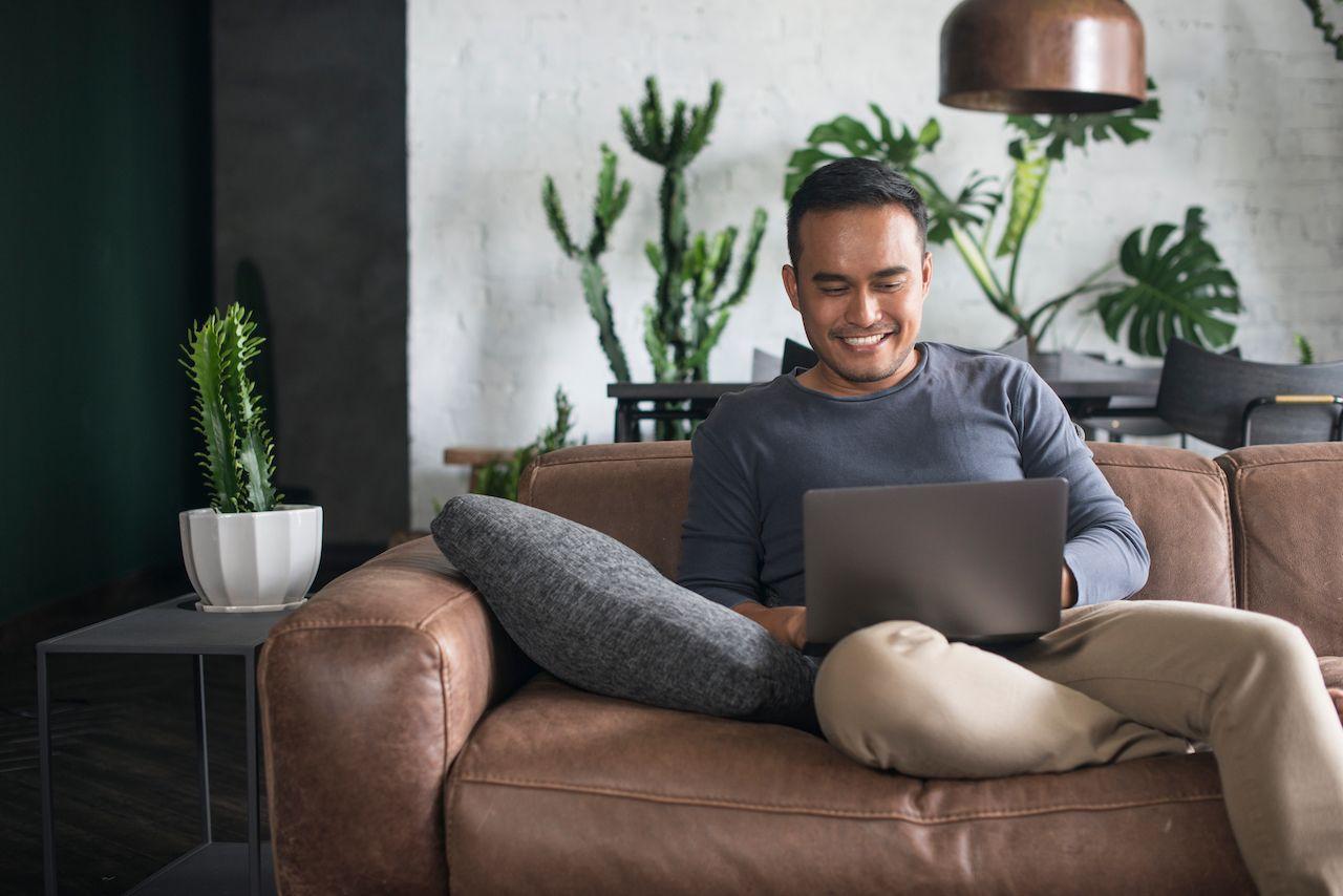 Man on a laptop