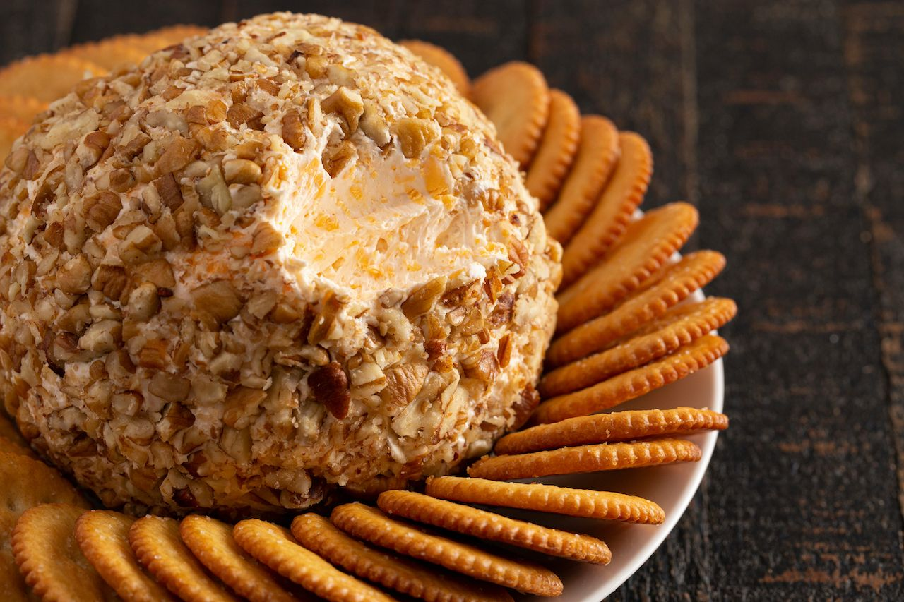 Midwestern holiday cheese ball