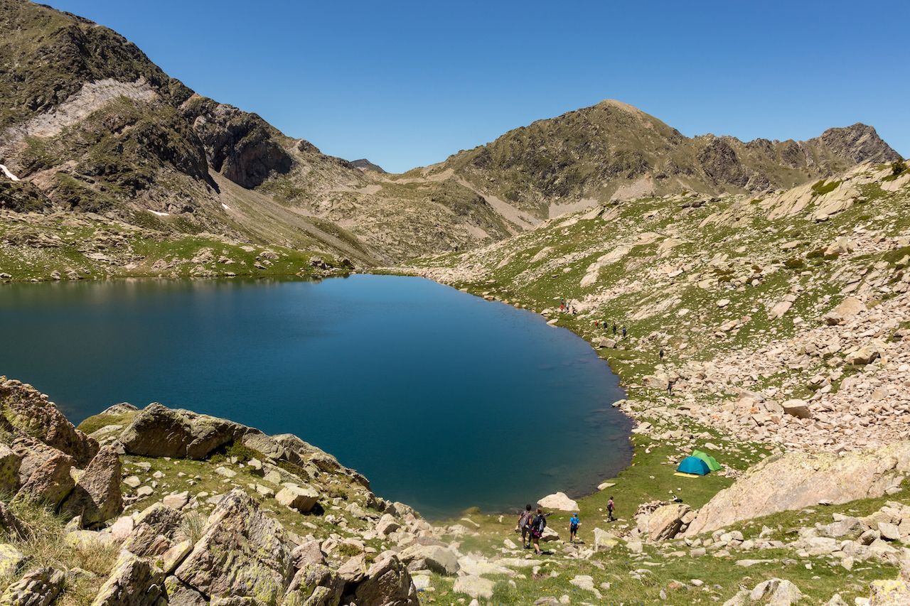 Mountain lake in France