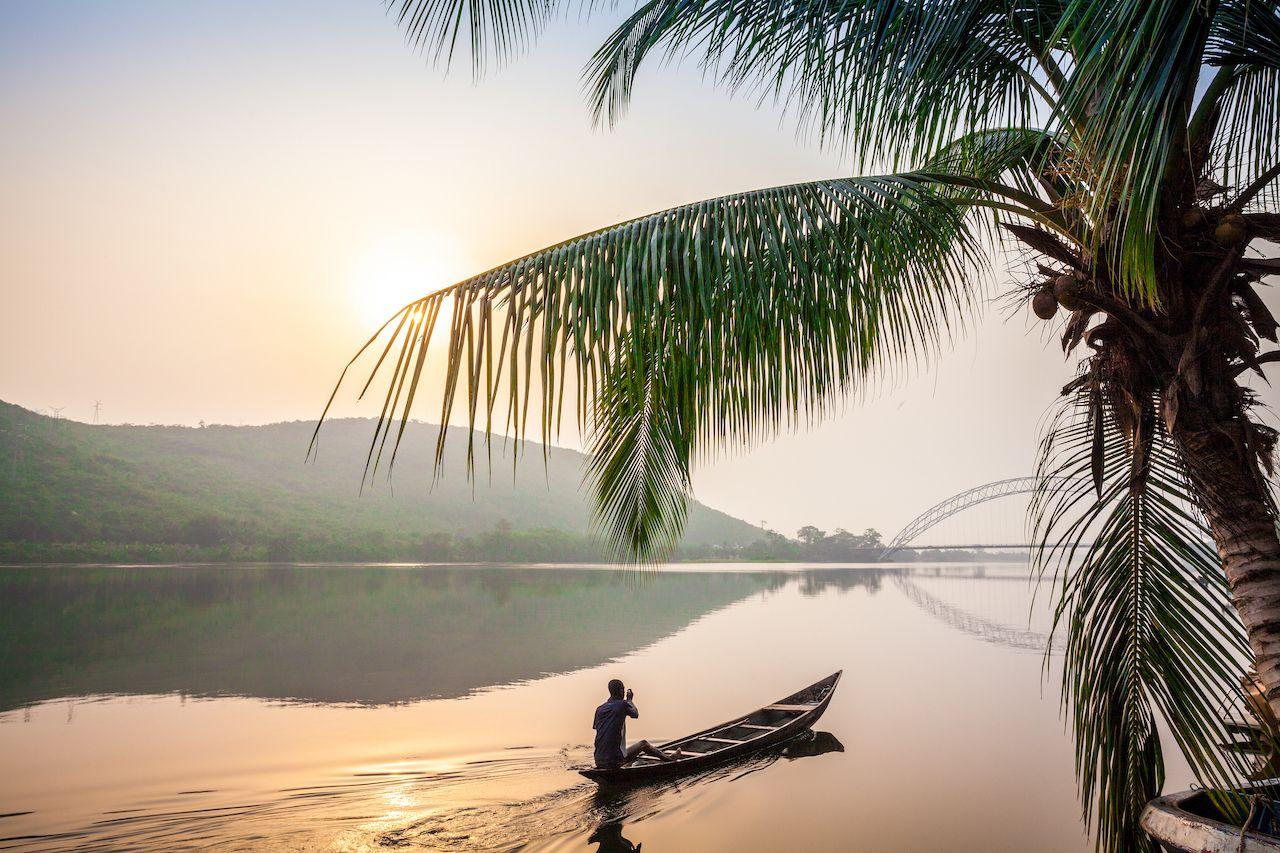 Riverboat in Ghana