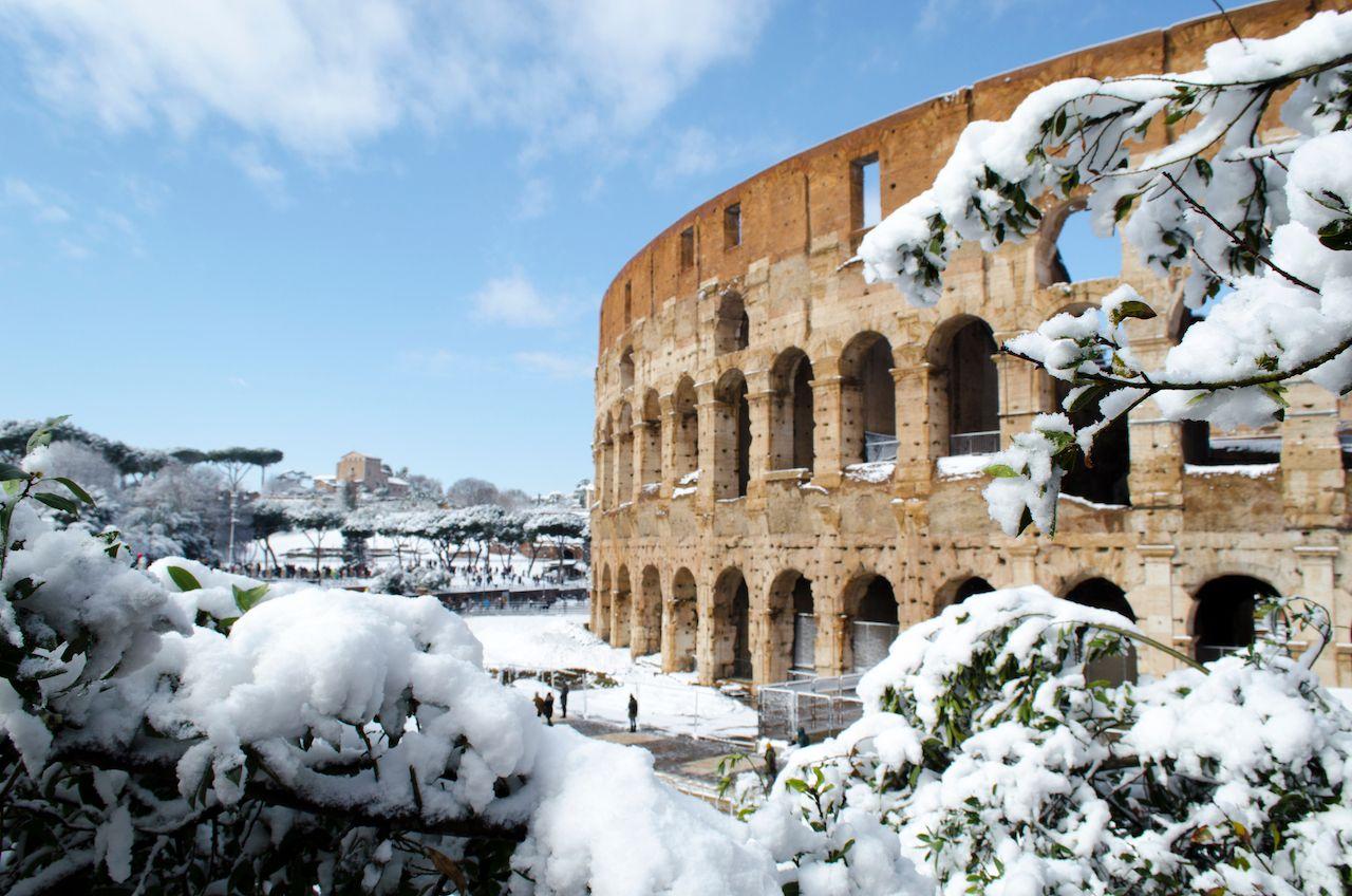 Roman Coliseum in winter