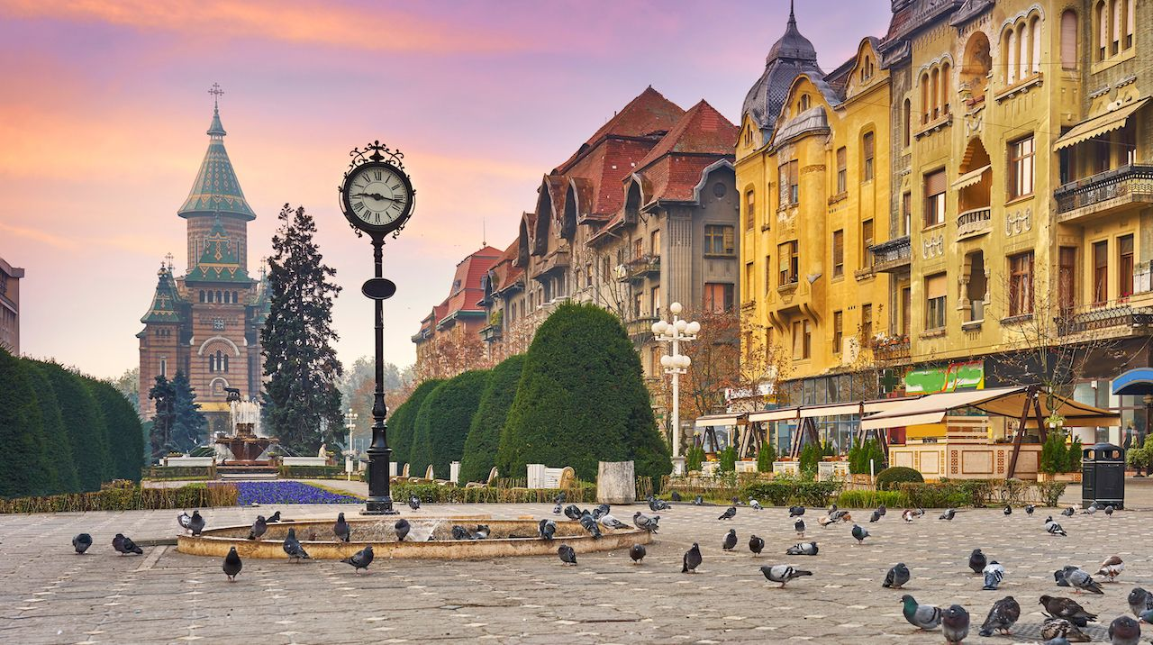 Square in Romania