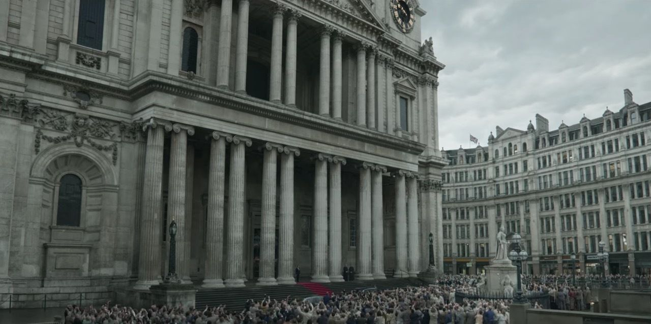 St. Paul's Cathedral in London on The Crown Season 4