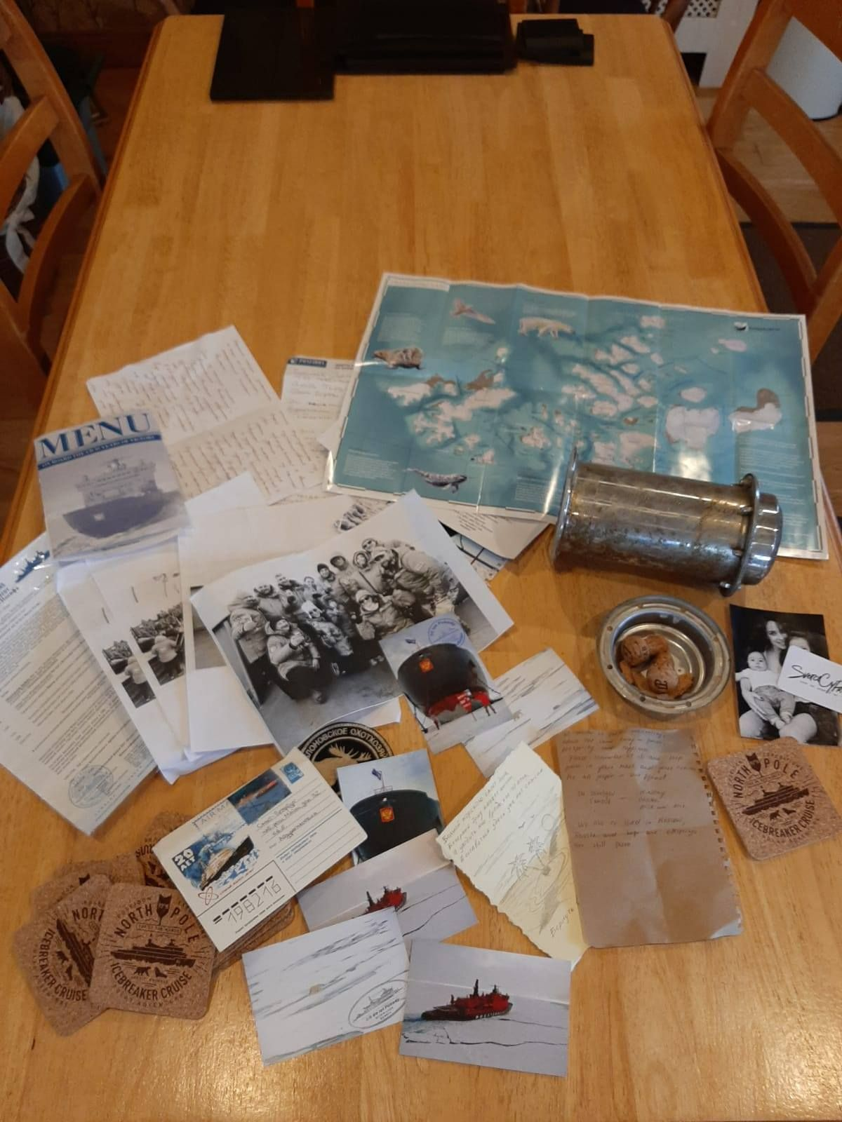 Time capsule from north pole
