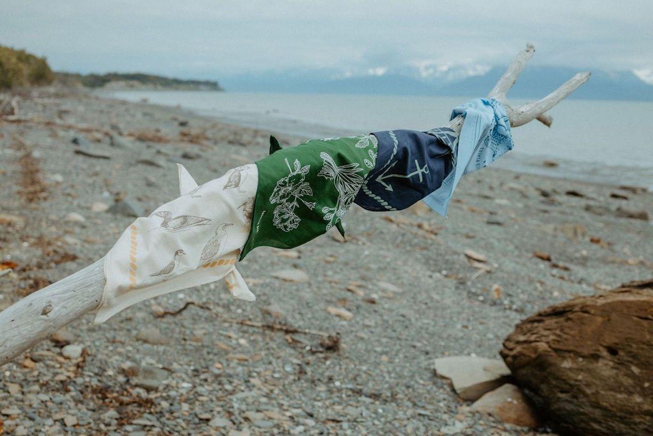 Travel Gifts for women bandana salmon sisters