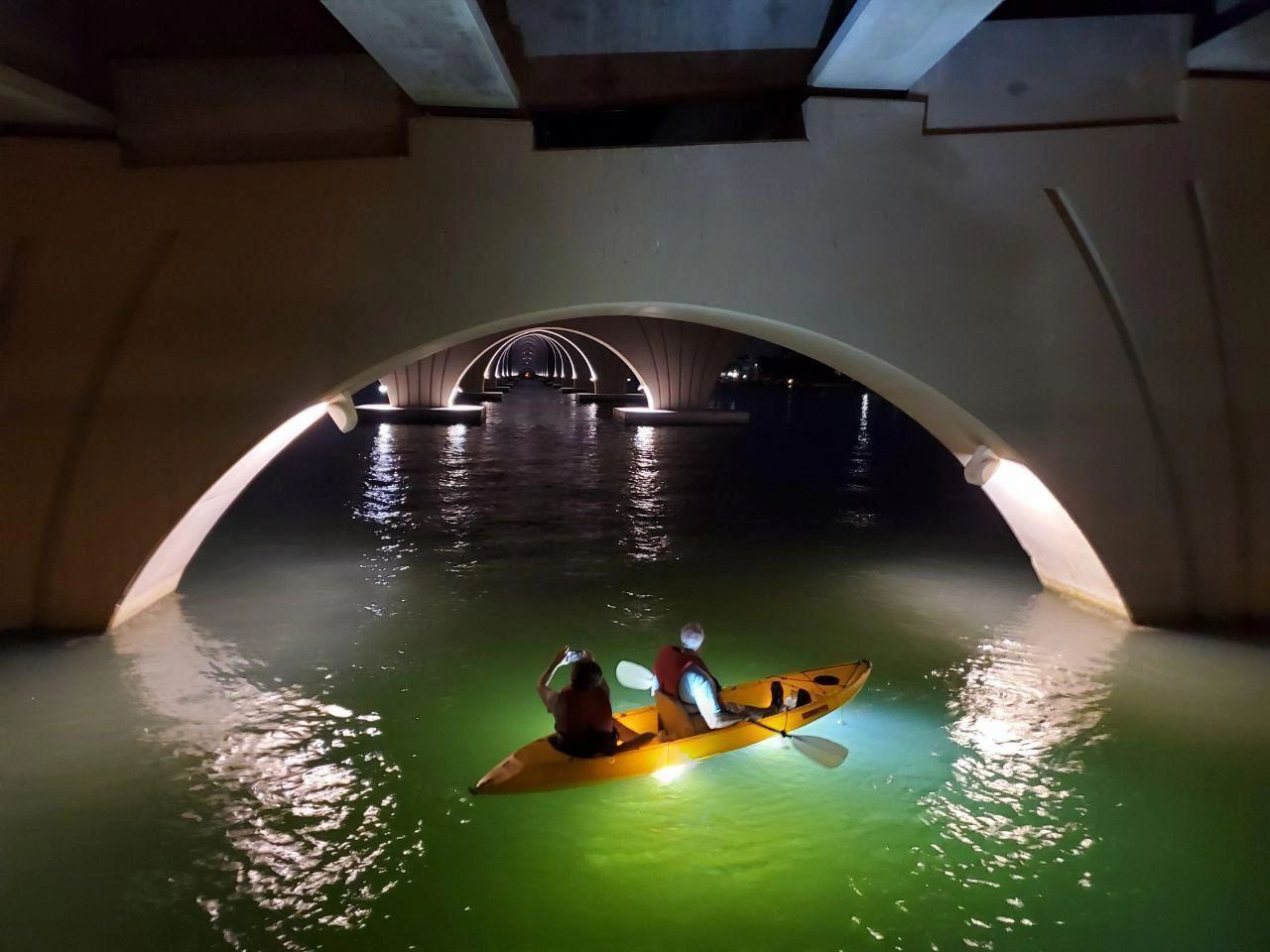 glass-bottom kayak