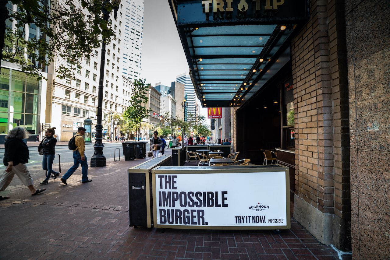 impossible burger sign