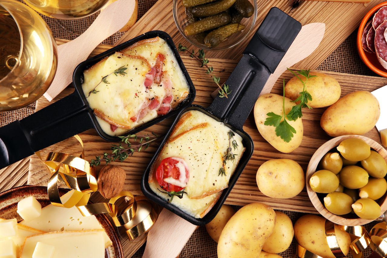 traditional Swiss raclette