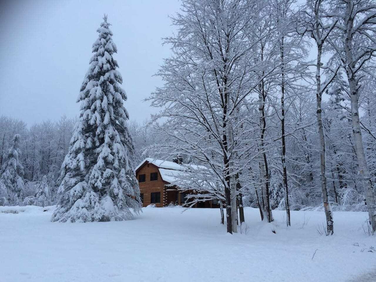 remote mountain cabin