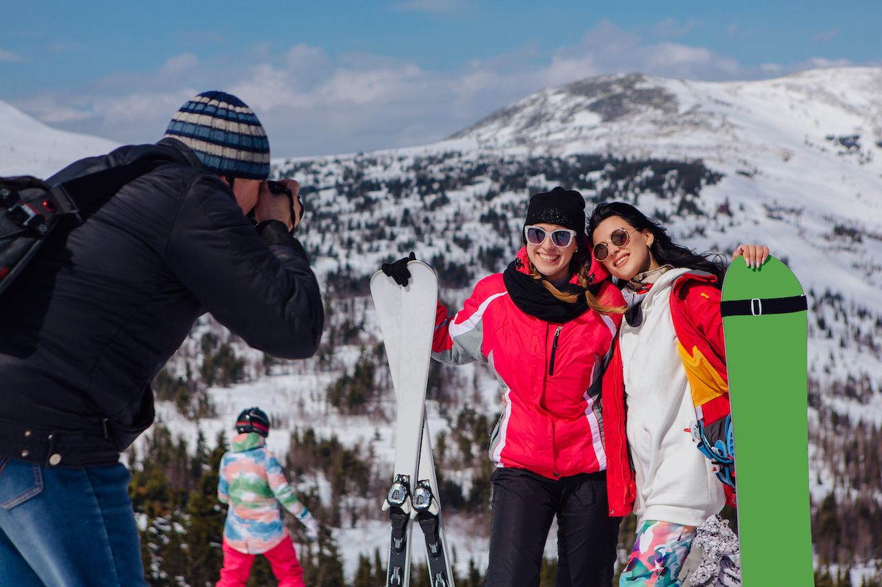 skiers posing for a photo