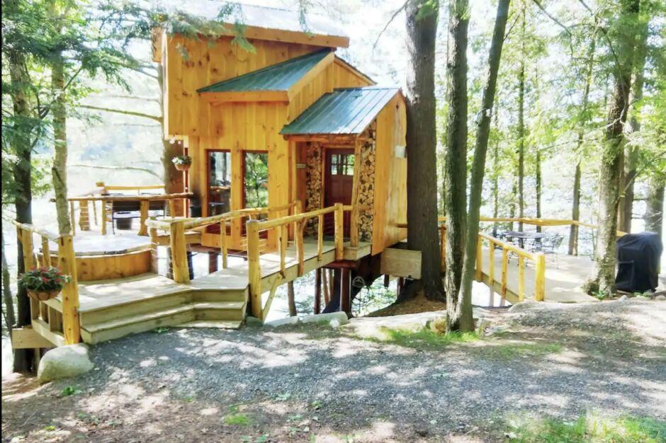 vermont cabin hot tub cabins near new york