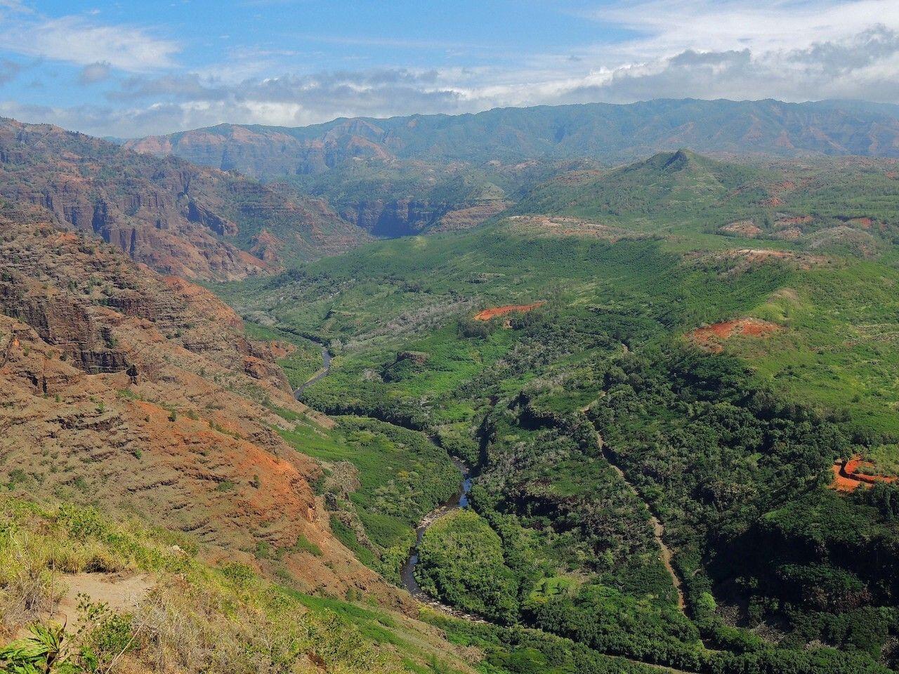 waimea canyon from highway 50 in kauai, hawaii