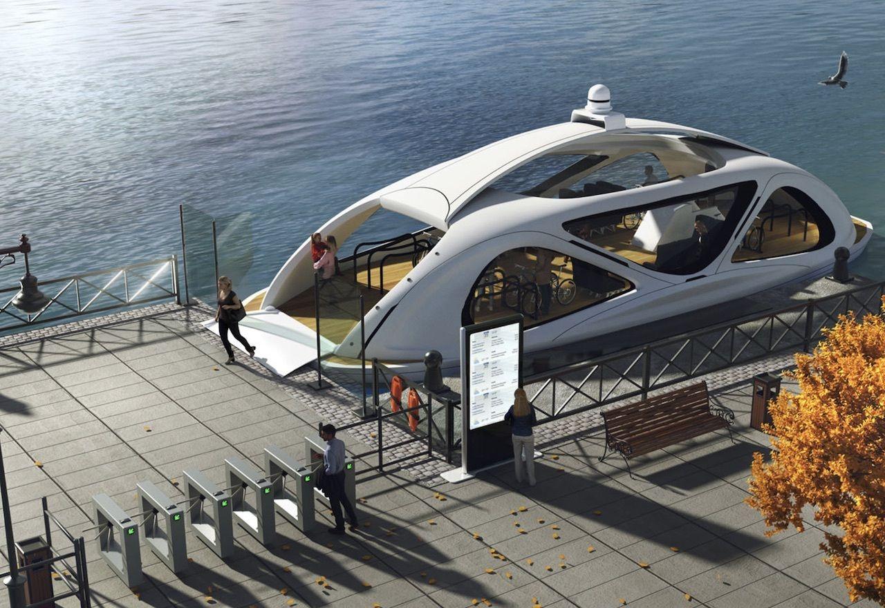 zeabus ferry docked