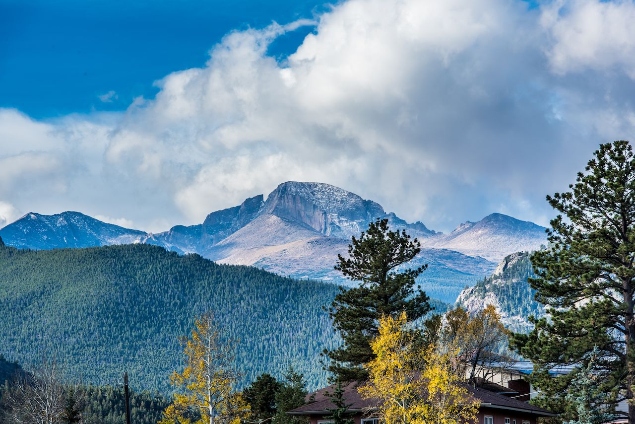Longs Peak viewed from Estes Park, Colorado