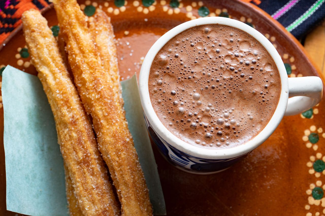 Mexican hot chocolate and churros