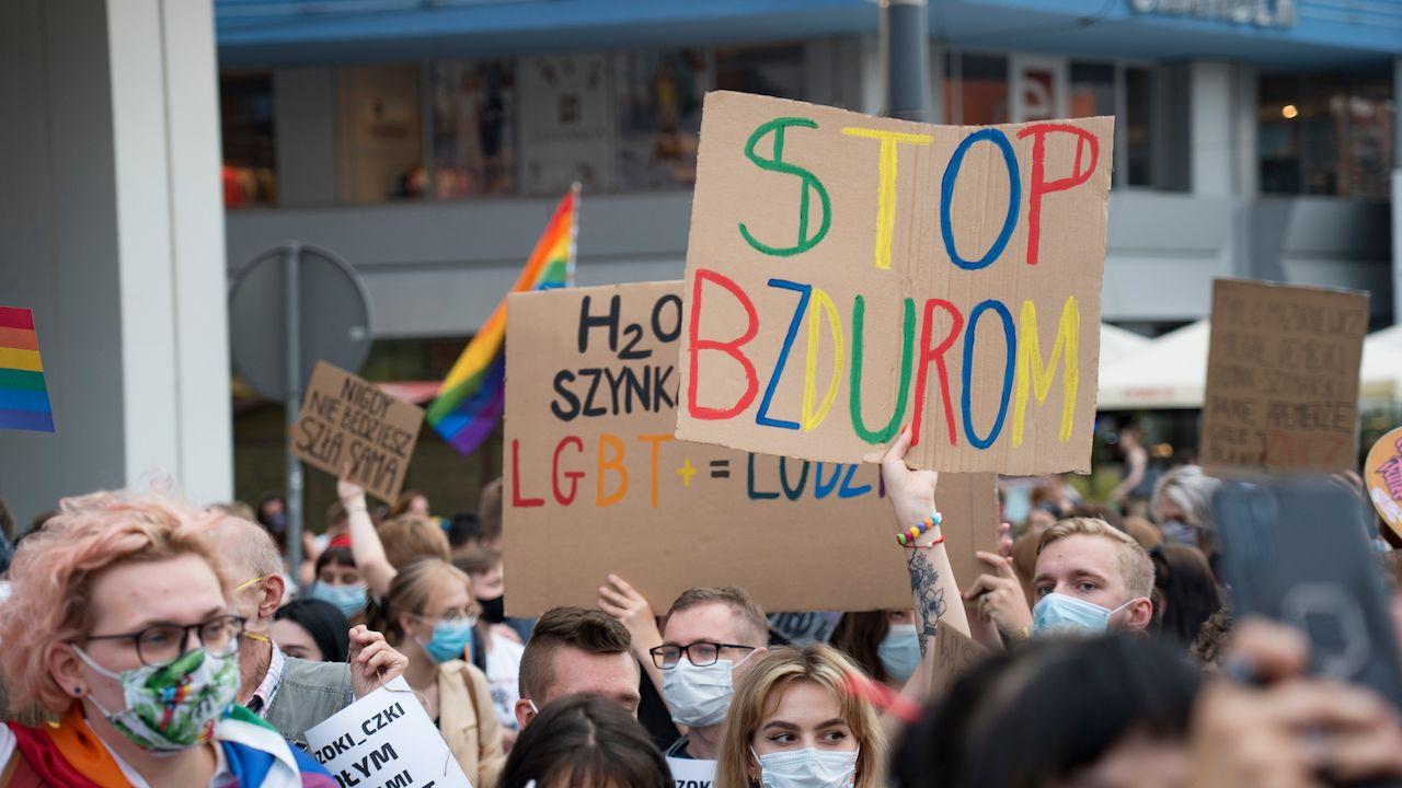 Polish LGBTQ protest