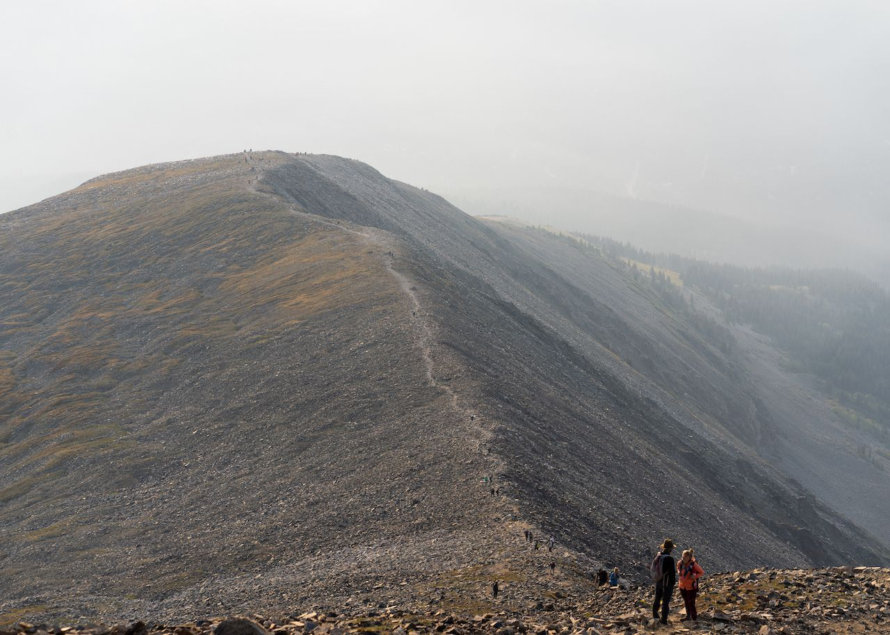 Quandary Peak trail seen during the 2020 Colorado Wildfire season