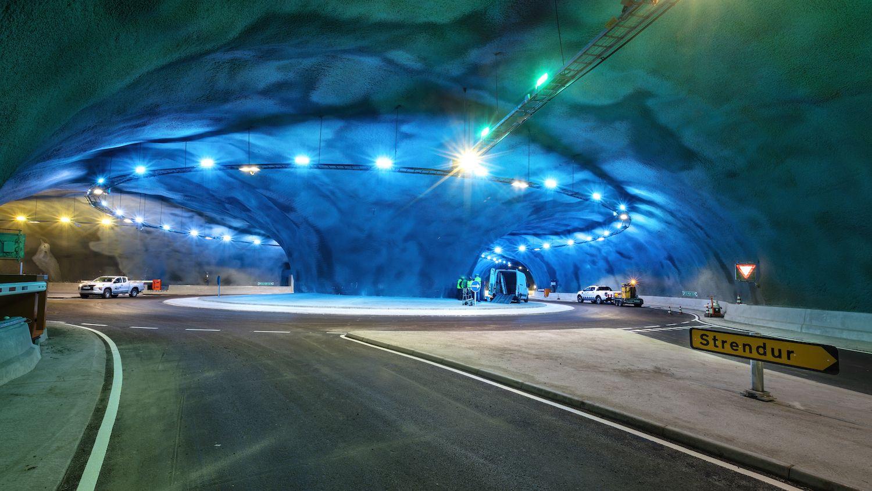 Underwater tunnel in the Faroe Islands