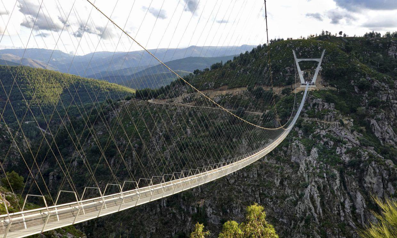 The longest pedestrian suspension bridge in the world, Arouca, Portugal