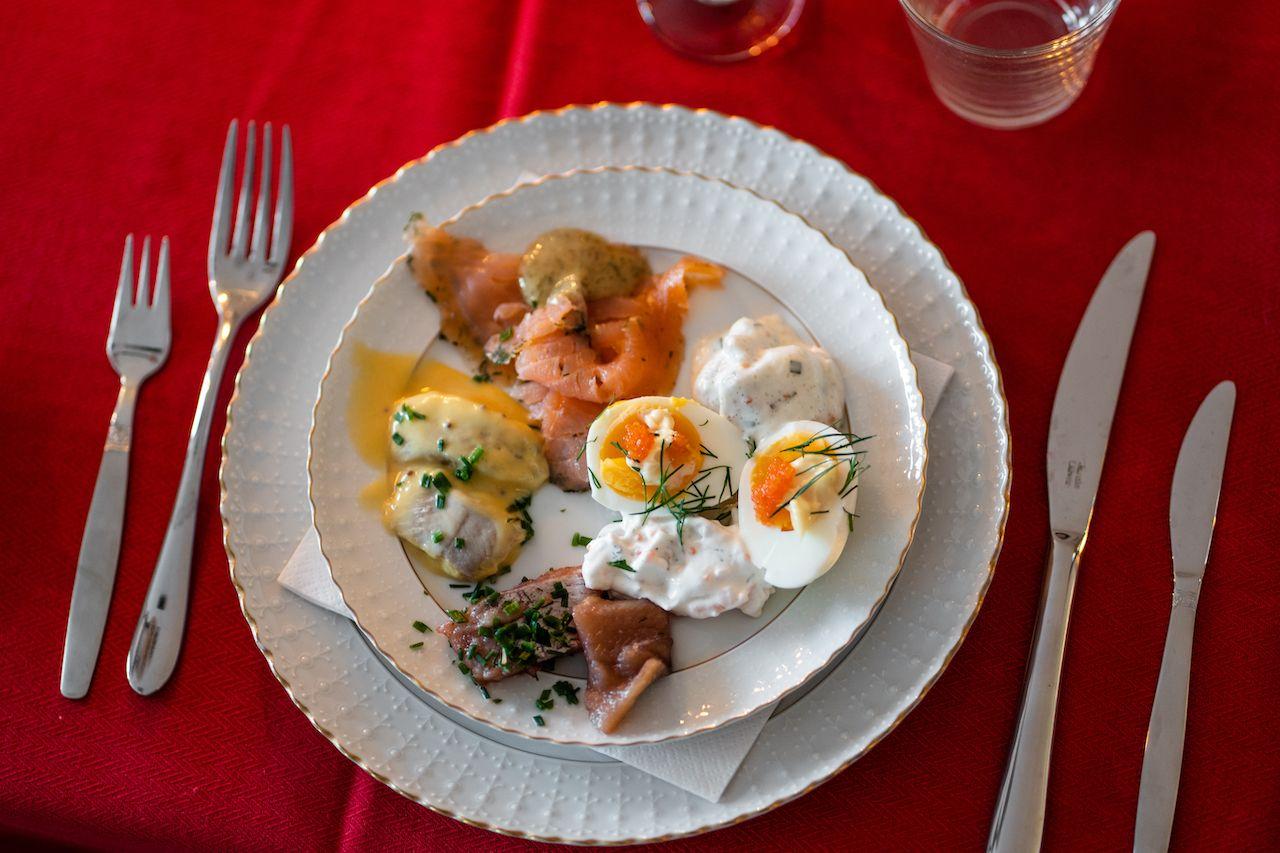 Traditional Swedish Christmas table starter