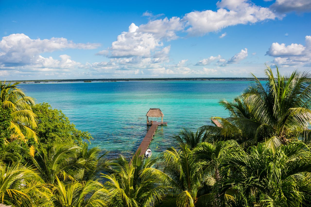 View of the water in Bacalar