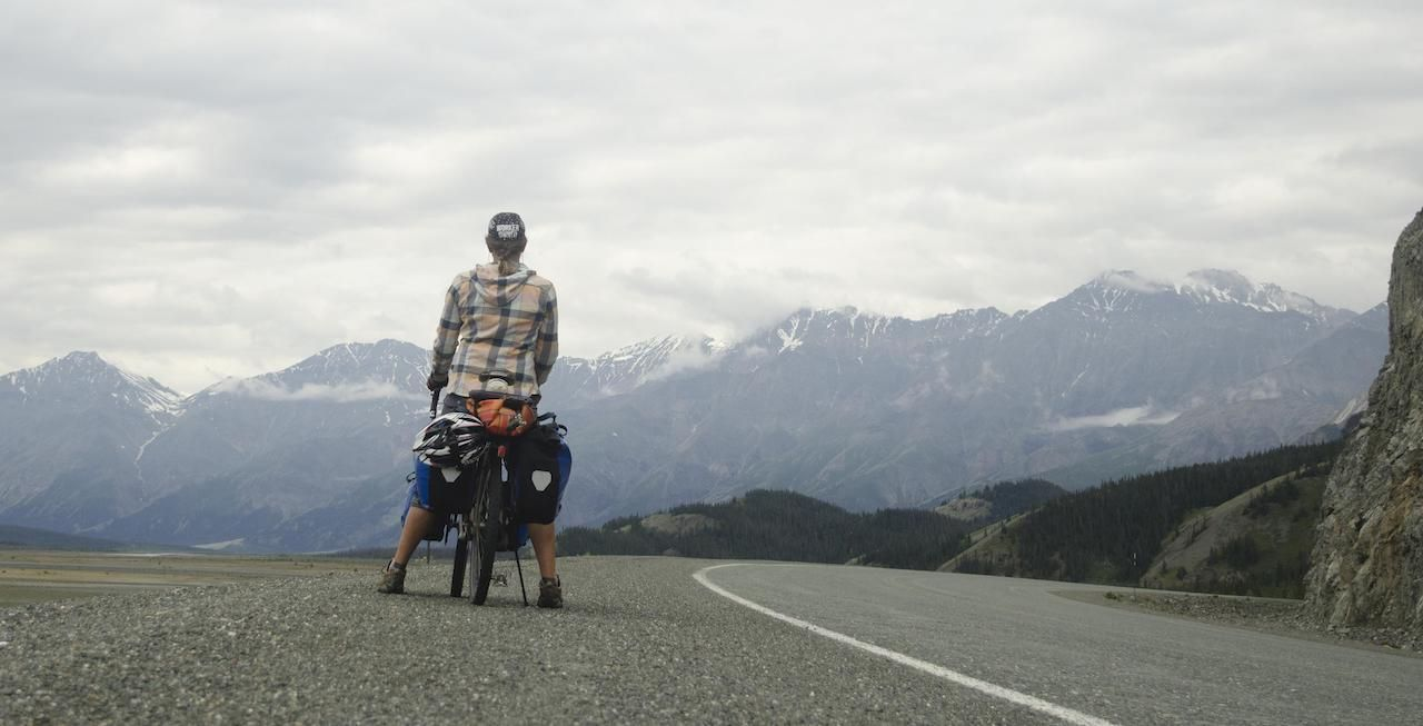 biking in Andes