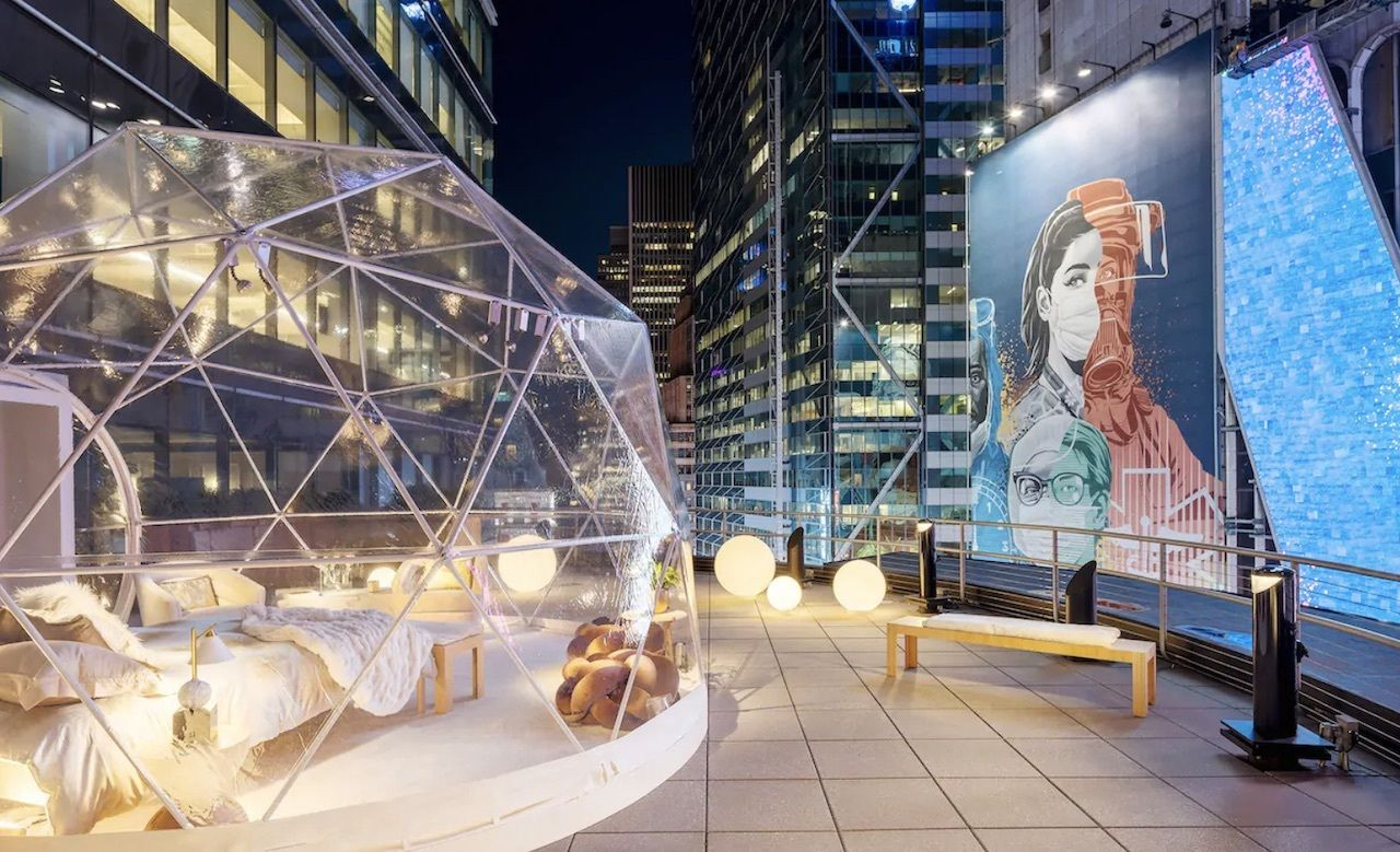 Airbnb dome