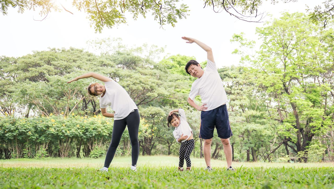 japanese family workout routine