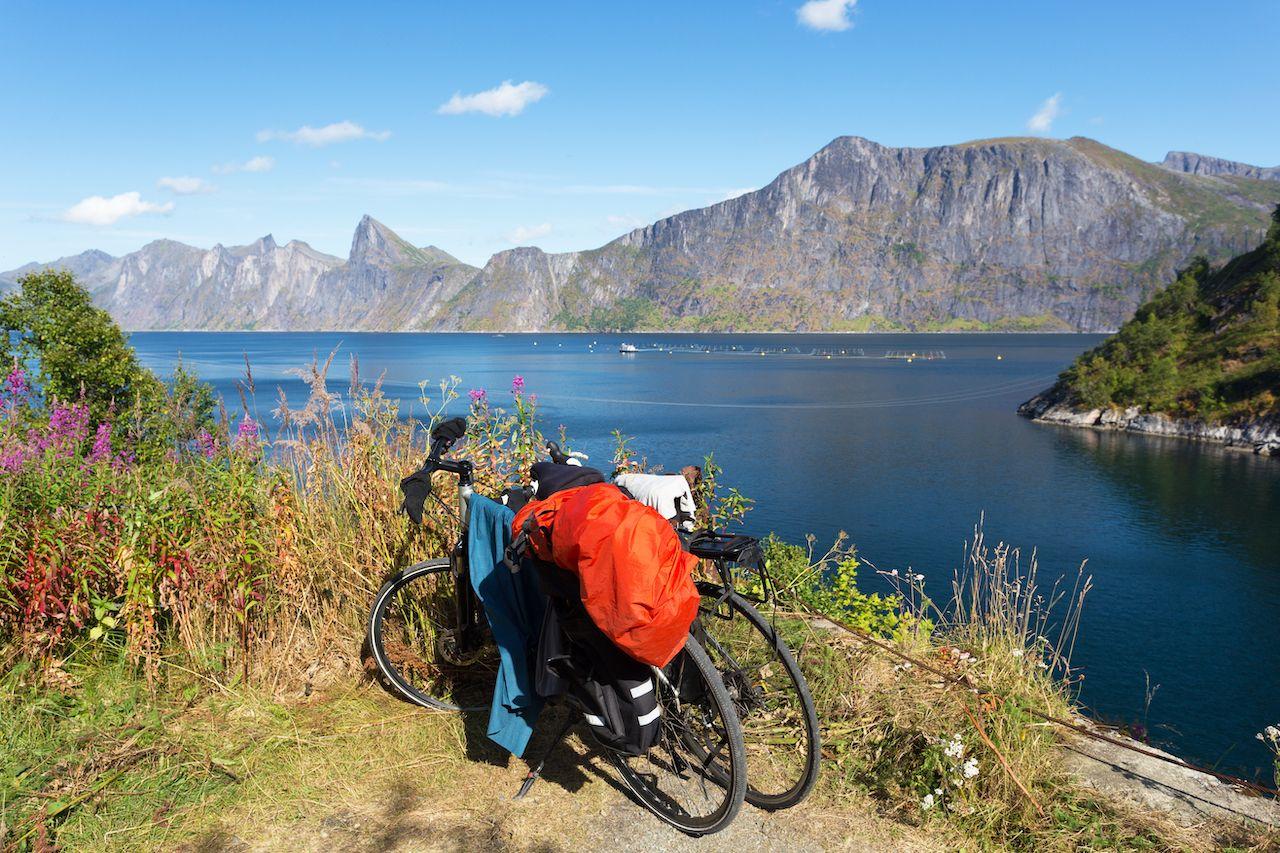 Biking on Senja Island, Norway
