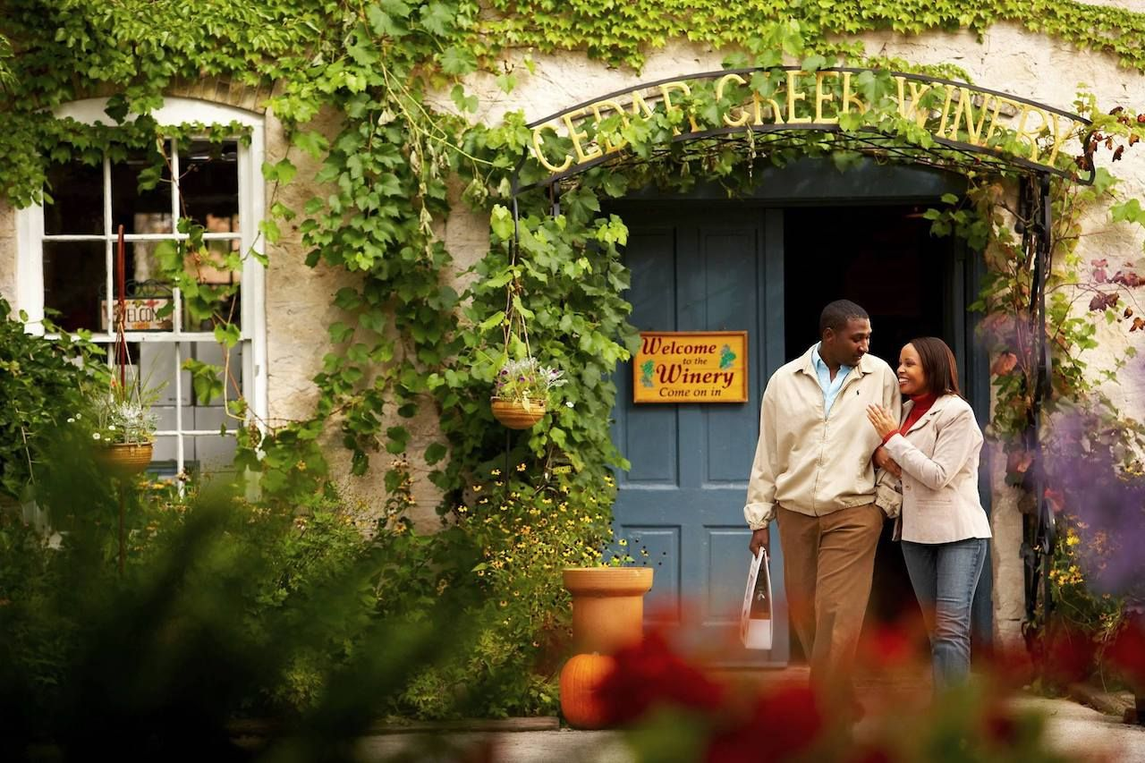 Black couple at a Milwaukee winery