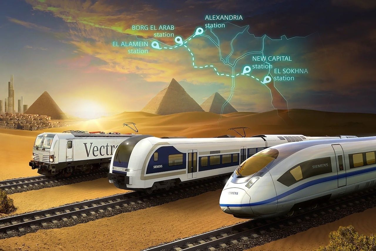 Egypt high speed train