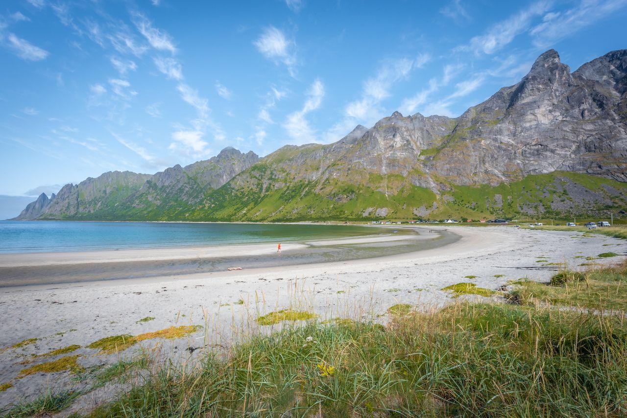 Ersfjord beach on Senja Island, Norway